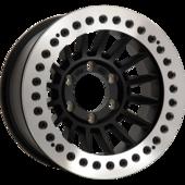 size:16x9.0 139.7/6H -38wheel color:SOLID BLACKring color:DIA-CUT FINISHnote:レースリングFA-Coat(艶消ブラック)ボルト