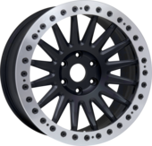 size:20x9.5 blankwheel color:SOLID BLACKring color:CUT FINISHnote:ブラックキャップボルトnote:wheel:特注カラー