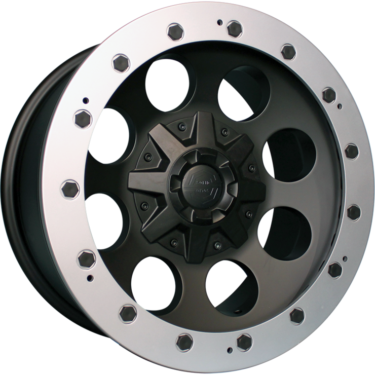 size:17x9.0 139.7/6H -38wheel color:SOLID BLACKring color:CUT FINISHnote:Center Cap C1旧バージョン