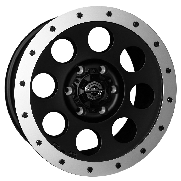 size:17x8.0 139.7/6H +20wheel color:SOLID BLACKring color:DIA-CUT FINISHnote:アルミリング付note:ブラックボルト