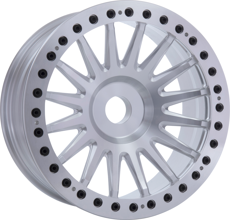<br>size:20x9.5 blank<br>wheel color:POLISH<br>ring color:CUT FINISH<br>note:ブラックキャップボルト<br>