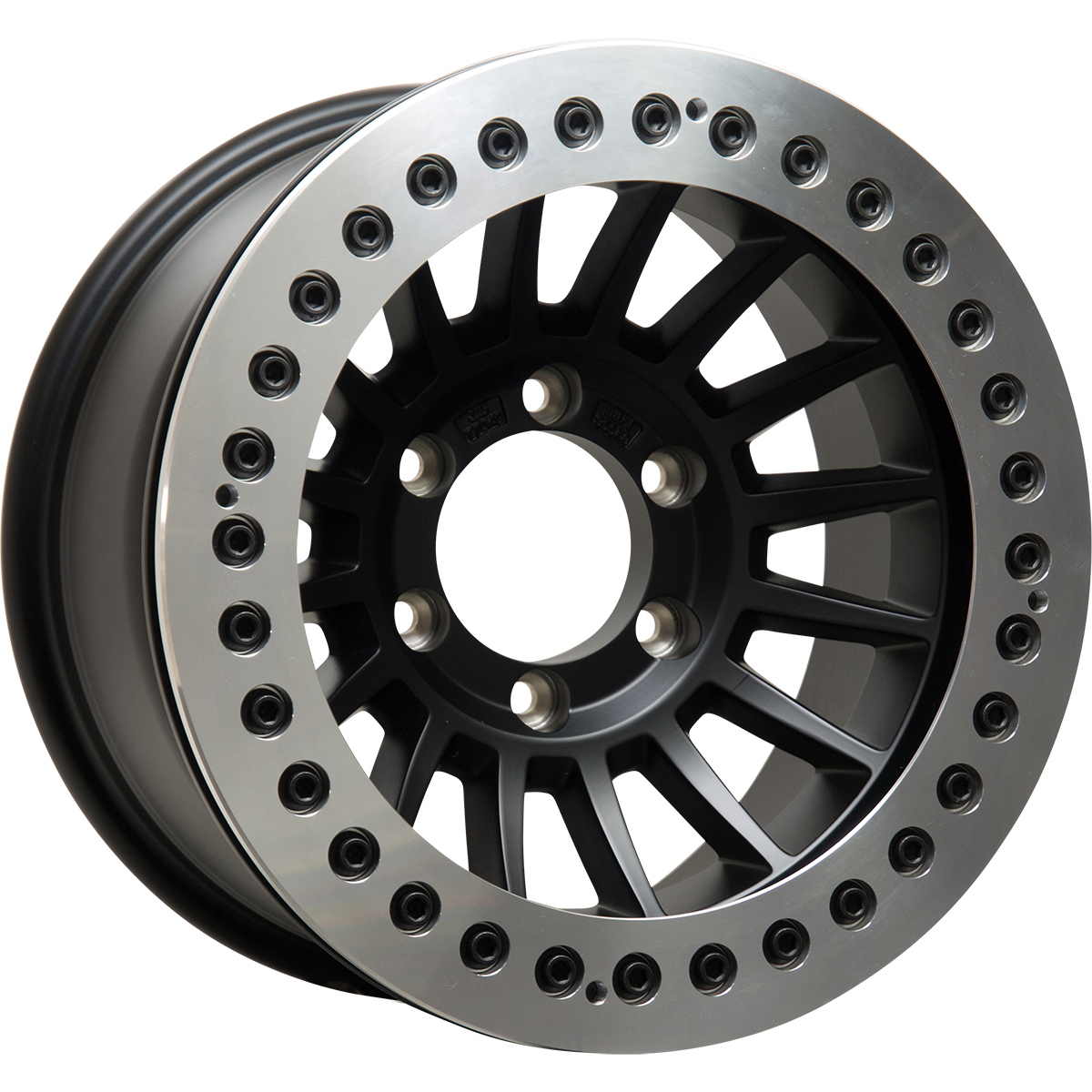 <br>size:16x9.0 139.7/6H -38<br>wheel color:SOLID BLACK<br>ring color:DIA-CUT FINISH<br>note:レースリング<br>FA-Coat(艶消ブラック)ボルト<br>