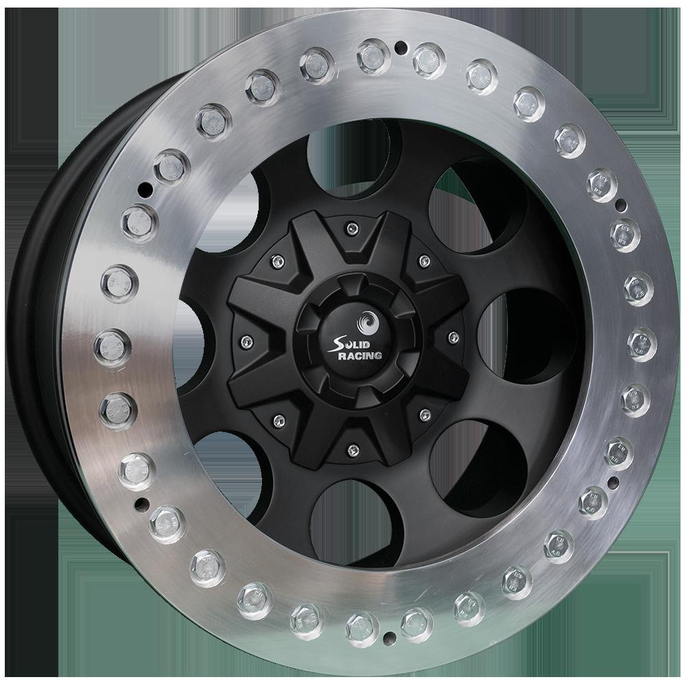 <br>size:17x9.0 139.7/6H -38<br>wheel color:SOLID BLACK<br>ring color:CUT FINISH<br>note:レースリング<br>メッキボルト選択<br>Center Cap C1<br>旧バージョン<br>