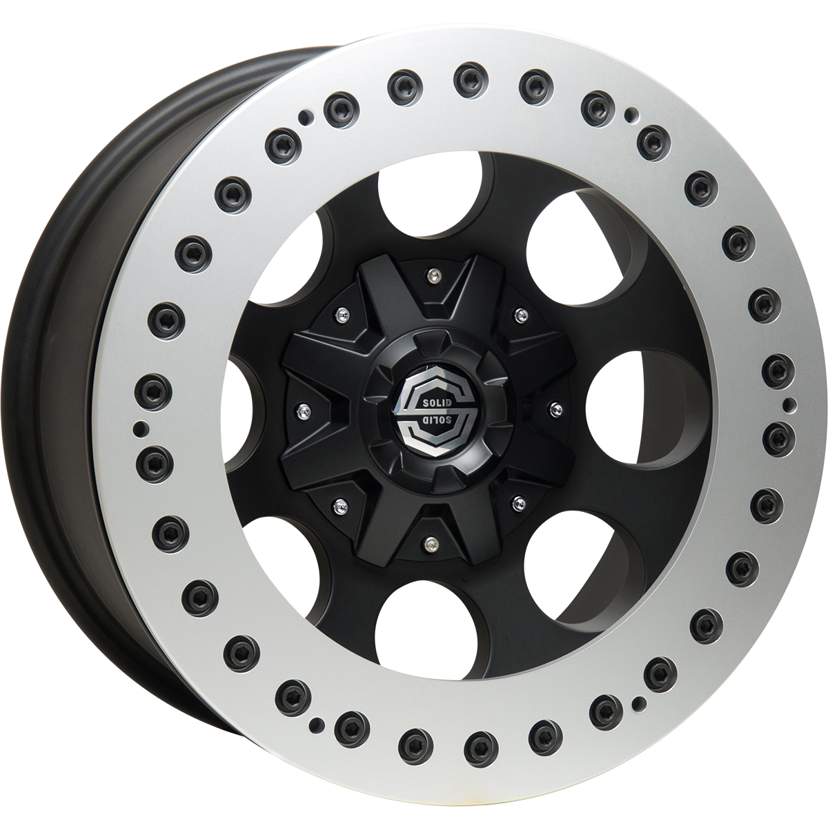<br>size:17x9.0 139.7/6H -38<br>wheel color:SOLID BLACK<br>ring color:SOLID SILVER<br>note:レースリング<br>note:Center Cap C1<br>
