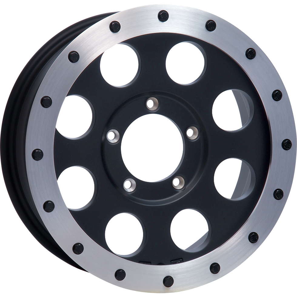 <br>size:16x5.5 139.7/5H +20<br>wheel color:SOLID BLACK<br>ring color:BRUSHED<br>note:アルミリング付<br>note:ブラックボルト<br>
