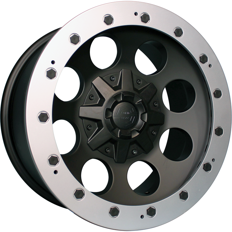 <br>size:17x9.0 139.7/6H -38<br>wheel color:SOLID BLACK<br>ring color:CUT FINISH<br>note:Center Cap C1<br>旧バージョン<br>